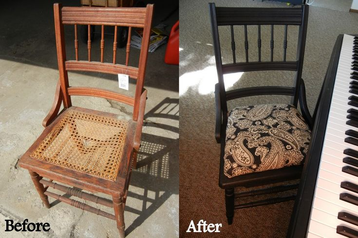 Frugal Homemaking: $3 Wooden Chair Makeover