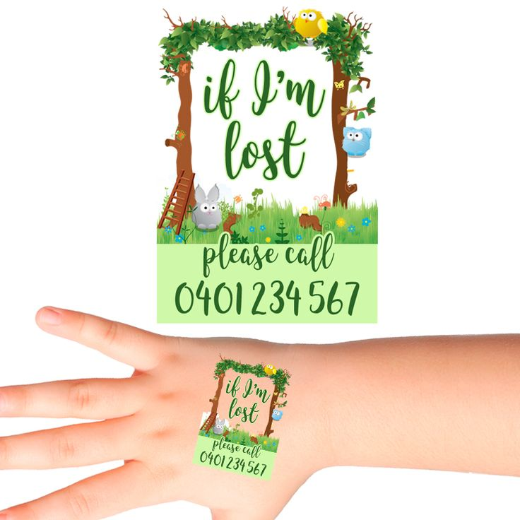Forest Gate Personalised Safety Tattoos #507 (16 pack)