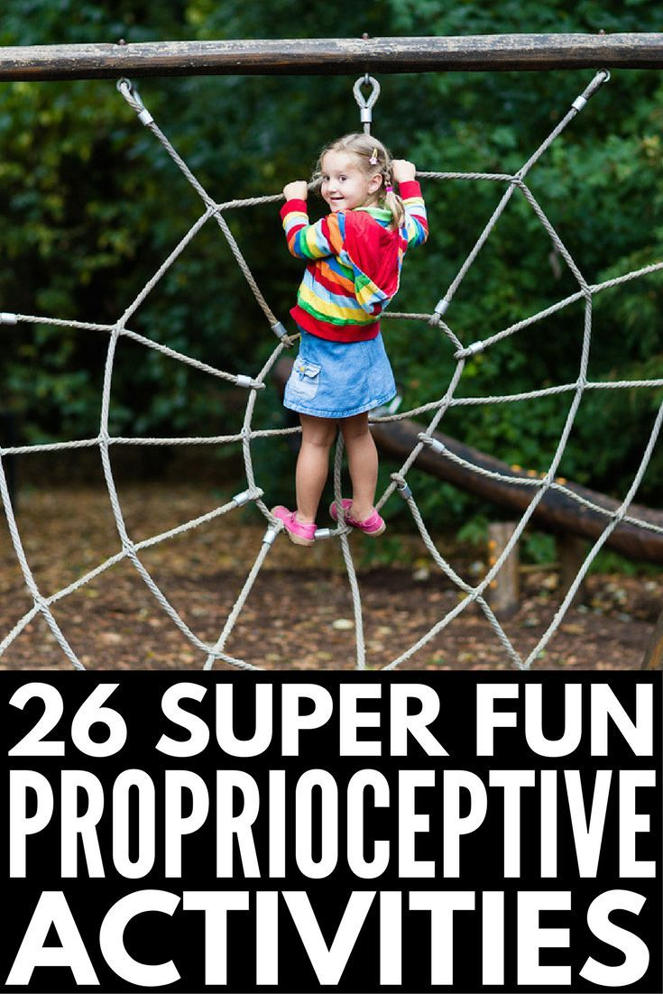 26 Proprioceptive Exercises for Kids | If you're looking for sensory integration activities for kids with autism and sensory processing disorder, we're sharing our favorite occupational therapy approved ideas that are perfect for at home, in the classroom and the school playground, and beyond. Perfect for teaching and developing motor skills in children, these proprioceptive activities feel more like play than work! #autism #SPD #sensoryprocessingdisorder #proprioception #proprioceptioninput