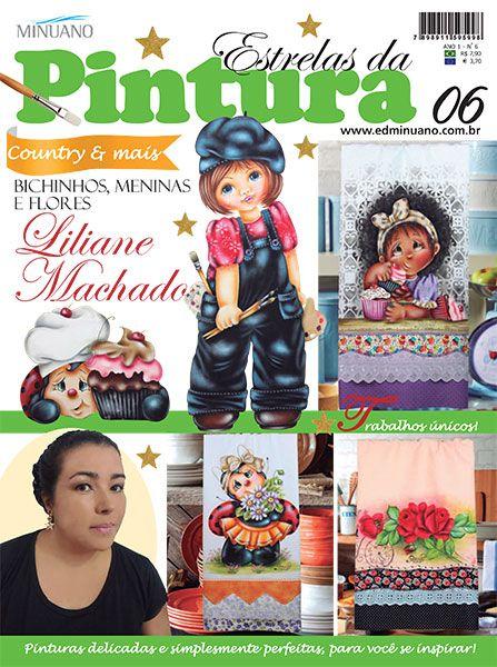 Artesanato - Pintura : ESTRELAS DA PINTURA 006 - Editora Minuano