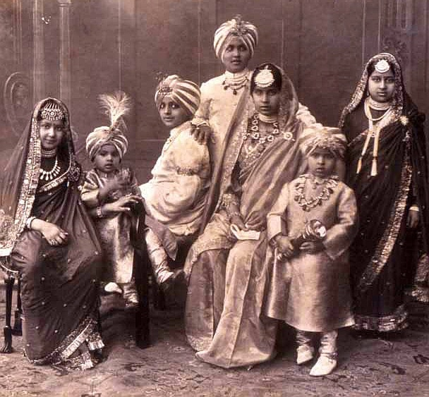 Royal children from Patiala - c1930