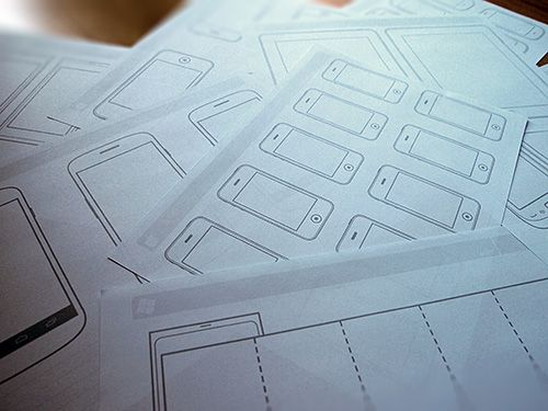 Outline set for mobile sketches and wireframes
