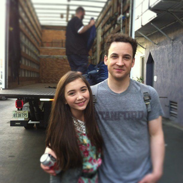 Rowan Blanchard (Cory and Topanga's daughter Riley) and Ben Savage: Girl Meets World: Behind-the-Scenes Photos from the Cast | Photo Gallery - Yahoo! TV