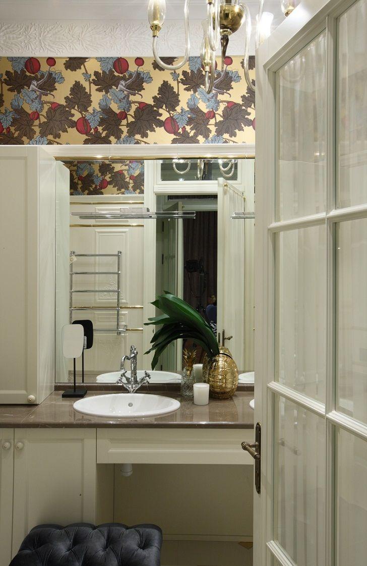 Серый интерьер с яркими пятнами в Москве   Пуфик - блог о дизайне интерьера