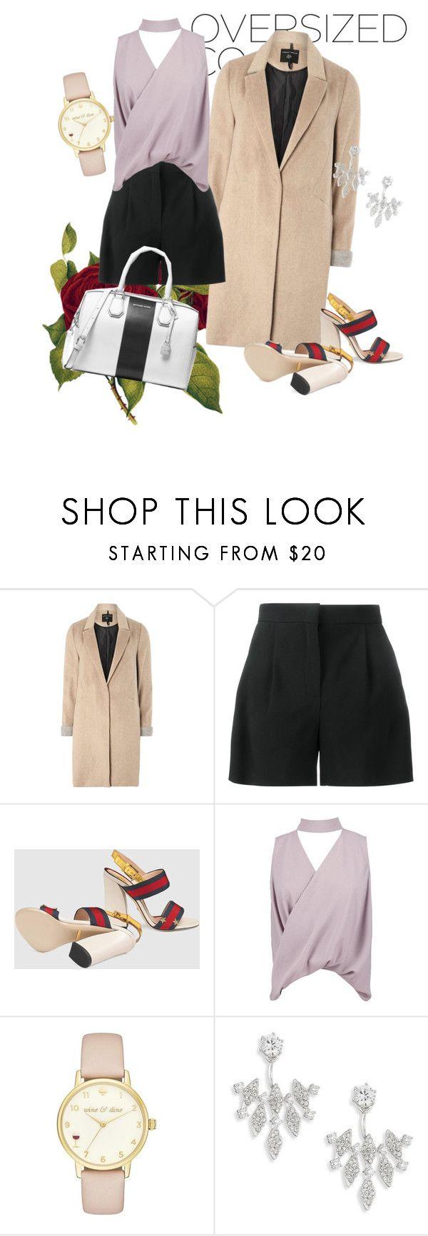 """outfit#90"" by alifia-fae on Polyvore featuring mel, Alberta Ferretti, Gucci, Boohoo, Kate Spade, Adriana Orsini and MICHAEL Michael Kors"