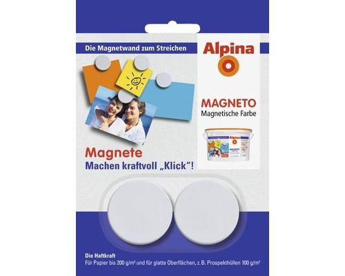 Alpina Magnetfarbe Magneto Komplett-Set weiß