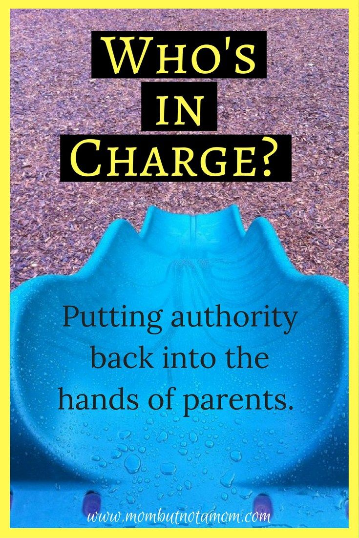 Who's in Charge? Sometimes we give away our parental authority in ways we don't even realize! It's time to put that authority back into the hands of parents and get that healthy parent-child relationship on track. | Mom but not a Mom