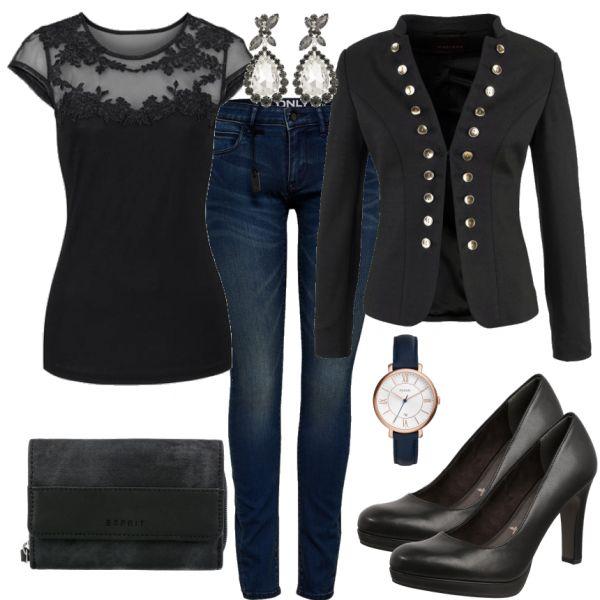 Business Outfits: Black at FrauenOutfits.de ___ # büro # bürooutfit #outfit #da …