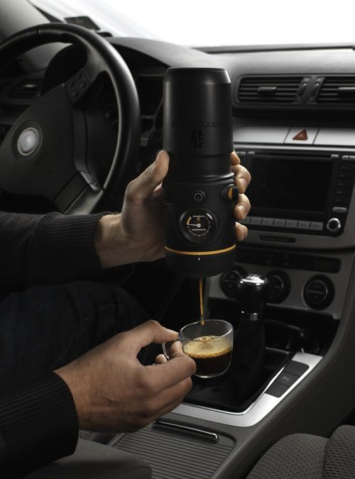 uhmmm WHAT?  mobile espresso maker by handspresso auto - i NEED this.