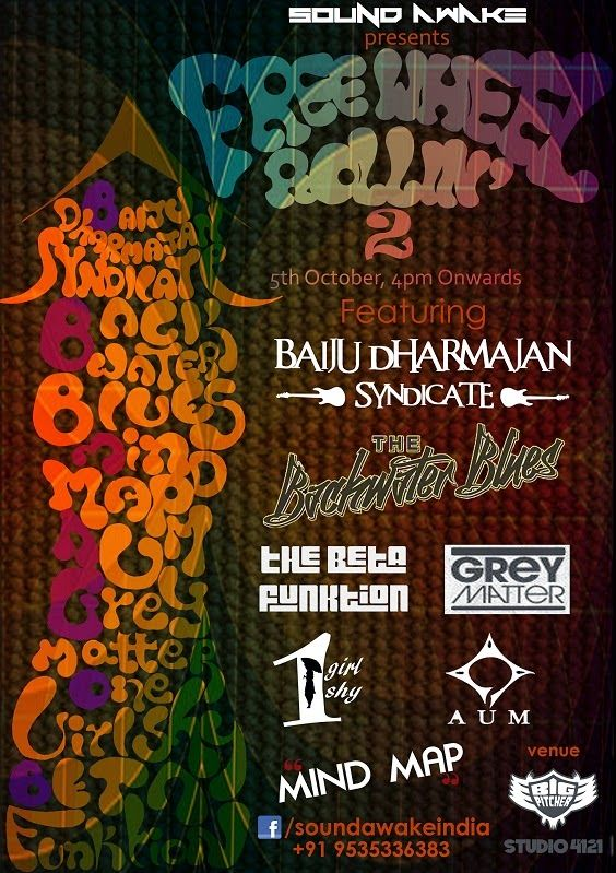 FreeWheel Rollin' 2 - bringing together the fans of rock, funk and blues | Music Malt   More - http://www.musicmalt.com/2014/10/freewheel-rollin-2-2014.html