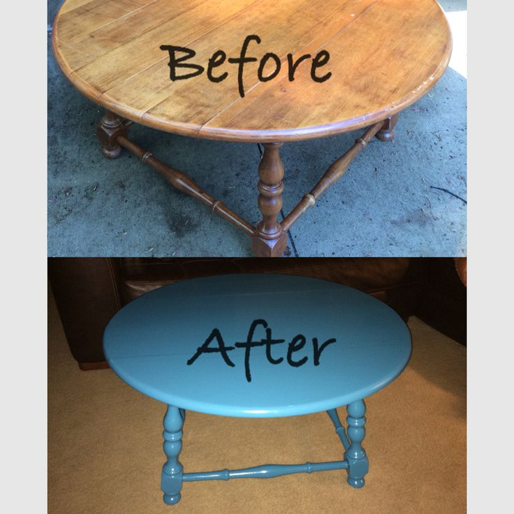 Coffee Table Makeover To Aqua Teal Looks More Blue In Photo Then It Actually Is I Made