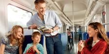 Travel Germany by train with a cheap weekend pass.