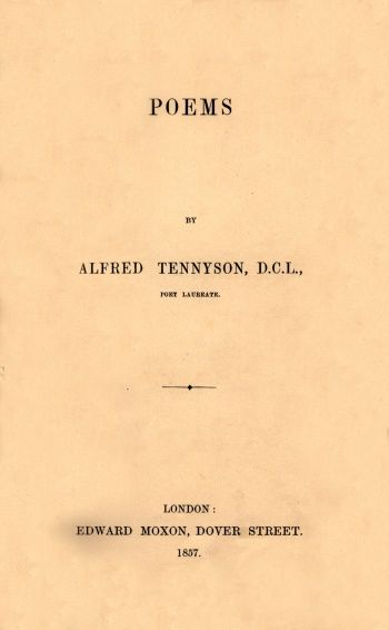 Poems [The Moxon Tennyson]