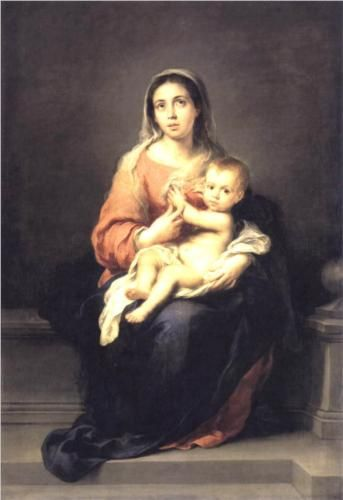 Madonna and Child - Bartolome Esteban Murillo