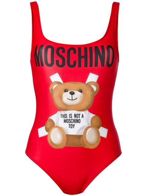 MOSCHINO Bear Print Swimsuit. #moschino #cloth #swimsuit