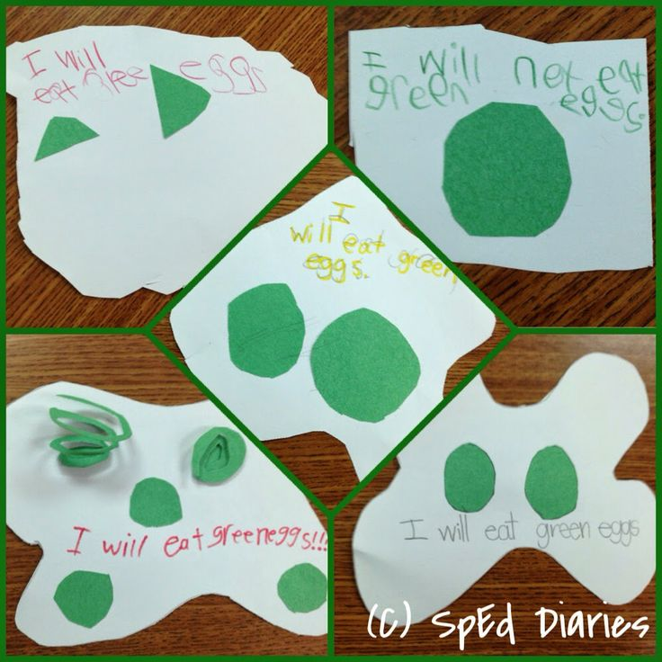 Green Eggs And Ham Craft Writing