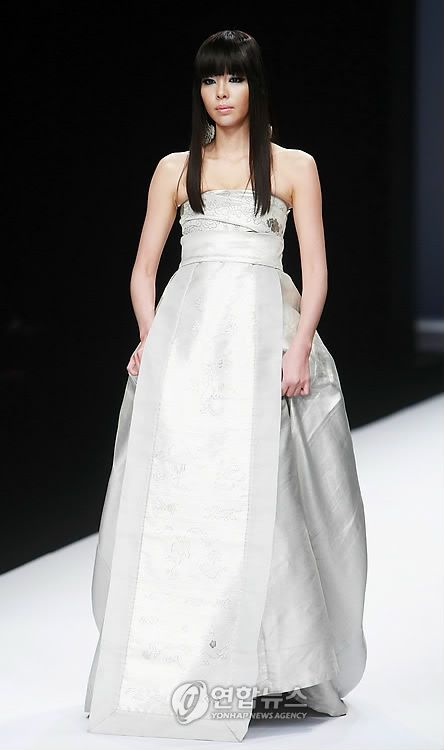 Korean inspired wedding dress by Lee Young Hee
