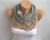 Bufanda Collar Cuerda infinito sin fin gruesas
