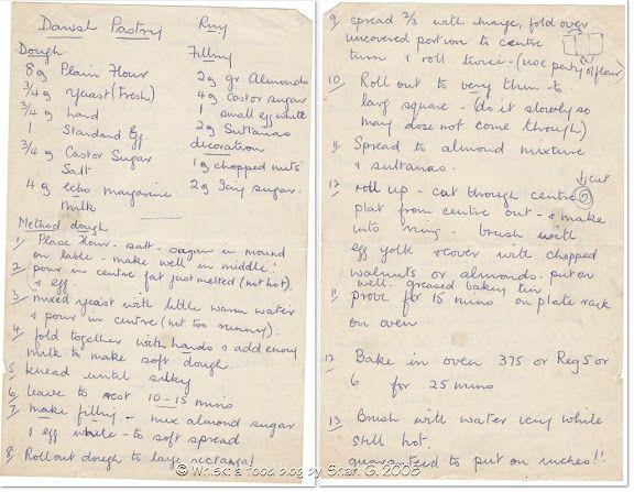 Danish Pastry (50 year old handwritten recipe)