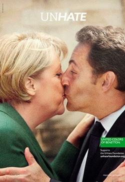 Benetton; Merkel;Sarkozy; Oliviero Toscani; Advertising; Publicidad; Creatividad