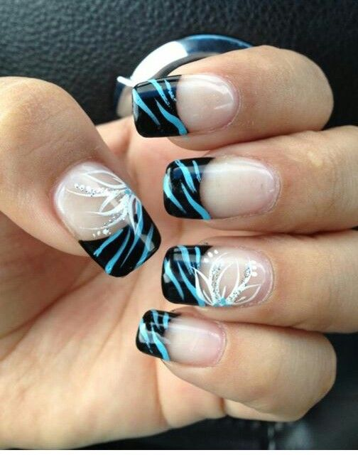 Cute zebra nail art
