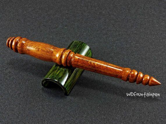 Fountain pen beech wood wooden fountain pen by WDFOUNTAINPEN