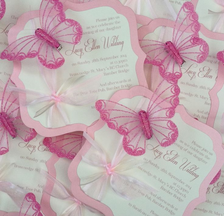 Beautiful Butterfly Ornate Childrenu0027s Christening
