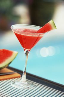 watermelon martini; Almost like the one I used to get at Bonefish grill, so many years ago. They added a cinnamon stick to garnish. Best martini ever; just be sure to use top shelf with fresh fruit!