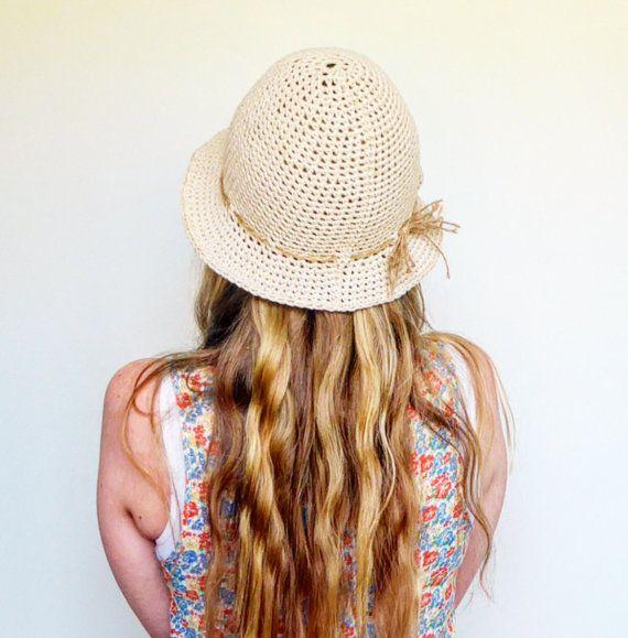 Crochet el sombrero de sombrero cubo sombrero sol por LittleDoLah