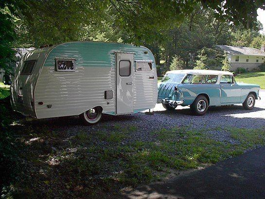 56 nomad with trailer campers glampers pinterest trailers. Black Bedroom Furniture Sets. Home Design Ideas