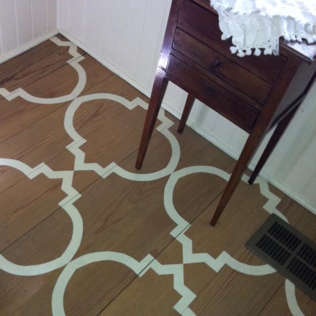 7 best images about floor stencils on pinterest floor for Floor stencils