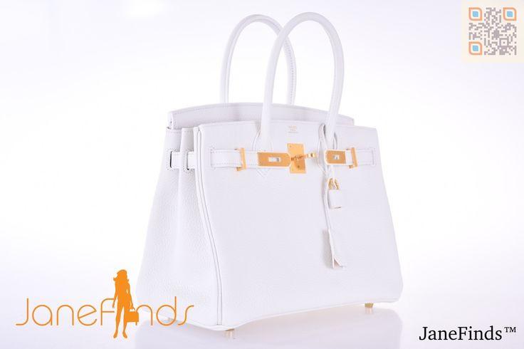Hermès Gris Tourterelle Birkin Bag- Togo, GHW, 35 cm