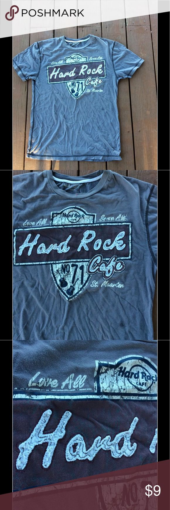 Men's Fit Hard Rock Cafe St. Maarten T Shirt Med Buyer gets this awesome pre owned Men's Hard Rock Cafe St. Maarten T shirt. SIZE Medium Fantastic Condition No Holes Tares or Stains  Smoke Free Home hard rock Shirts Tees - Short Sleeve