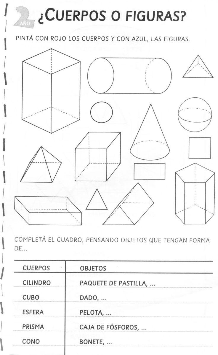Resultado de imagen para actividades para trabajar con figuras y cuerpos geometricos tercer grado