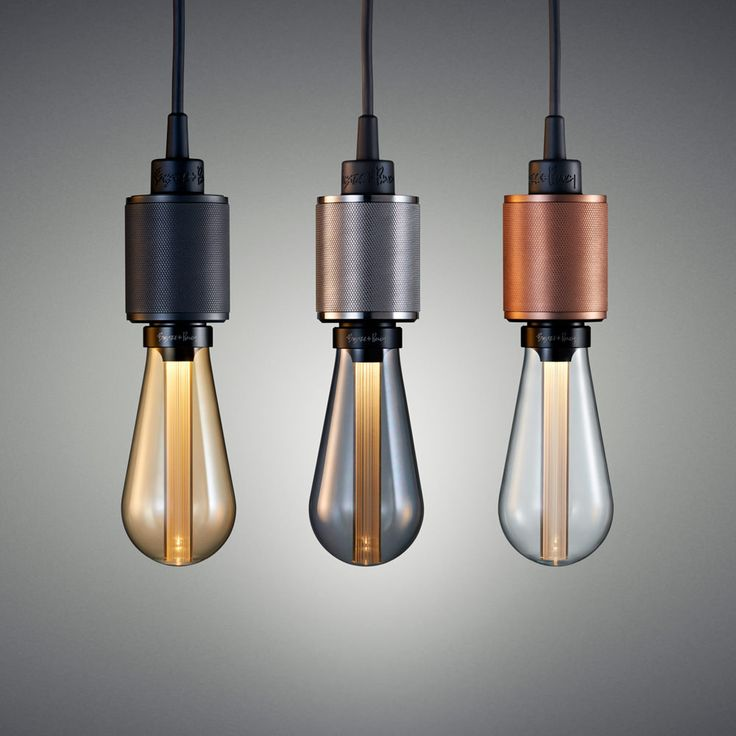 LED Buster Bulbs - Available in gold, smoked and crystal colored glass, each 3W dimmable warm white LED bulb is designed as a statement piece, more about ambience than bright illumination, from Buster + Punch