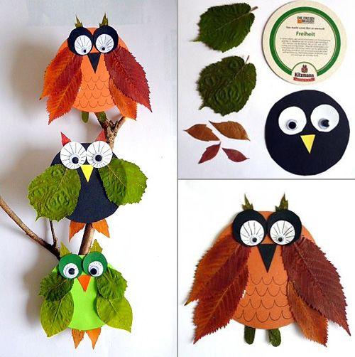 My Owl Barn: Make Owls Out of Leaves