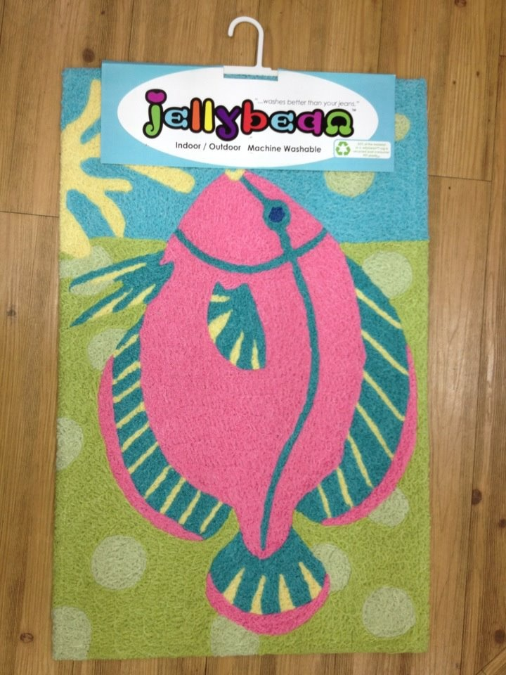 This Jelly Bean rug would be an awesome addition to a coast or beach house!