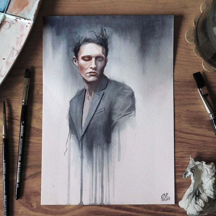 """Páči sa mi to: 5,139, komentáre: 44 – Miroslav Zgabaj (@miro_z_art) na Instagrame: """"Small watercolor painting  #face #portrait #watercolor #painting #sketch #watercolorpainting…"""""""