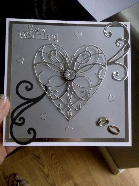 Memory box heart wedding card