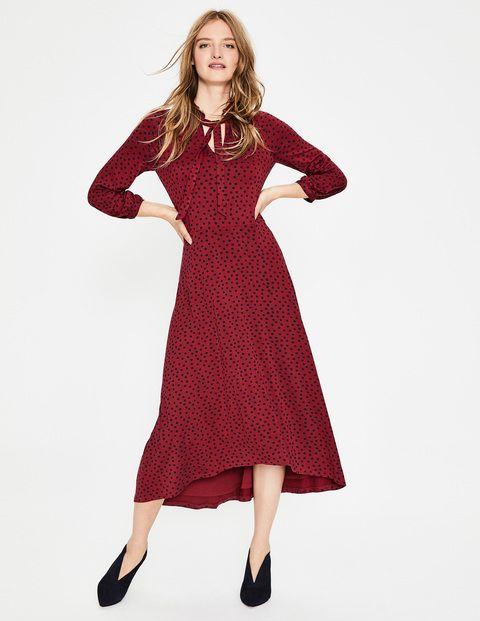 Boden Boden Rosa Jersey Kleid Red Damen Boden Red Rot Mode Fur