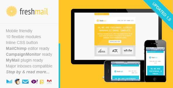 180 Absolute Best Responsive Email Templates - Freshmail Responsive Email Template