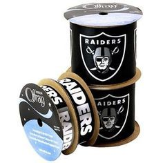 NFL Licensed Oakland Raiders Ribbon - 4 Different prints & widths - Offray
