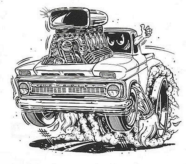how to draw a rat rod