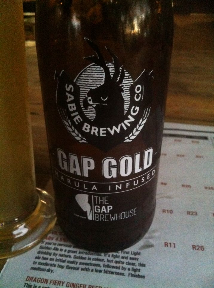 Gap gold @ The Gap Brewhouse, Hoedpruit