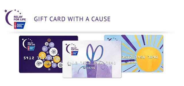 Get the perfect gift for someone on your list while jump starting your Relay For Life fundraising. Relay For Life is partnering with GiftCards.com and MasterCard® to present the Relay For Life MasterCard Gift Card this holiday season and all year round.http://www.giftcards.com/relay-for-life?utm_campaign=relay_for_life_gift_card_challenge&utm_source=american_cancer_society&utm_medium=email&utm_content=kickoff