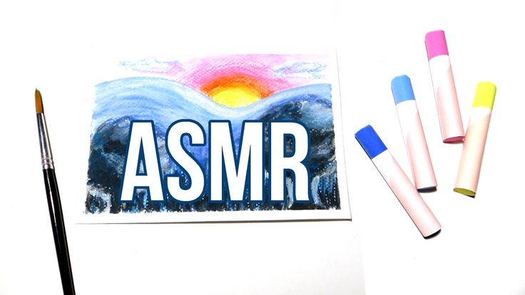 ASMR Chalk Pastel Drawing No Talking. Real time ASMR drawing and painting using water-soluble chalk pastels. The video includes sounds of unboxing the chalk pastels, taping down watercolor paper, sketching and drawing a little landscape with the chalk pastels, blending with water and a brush, pouring water and peeling tape, but no talking.