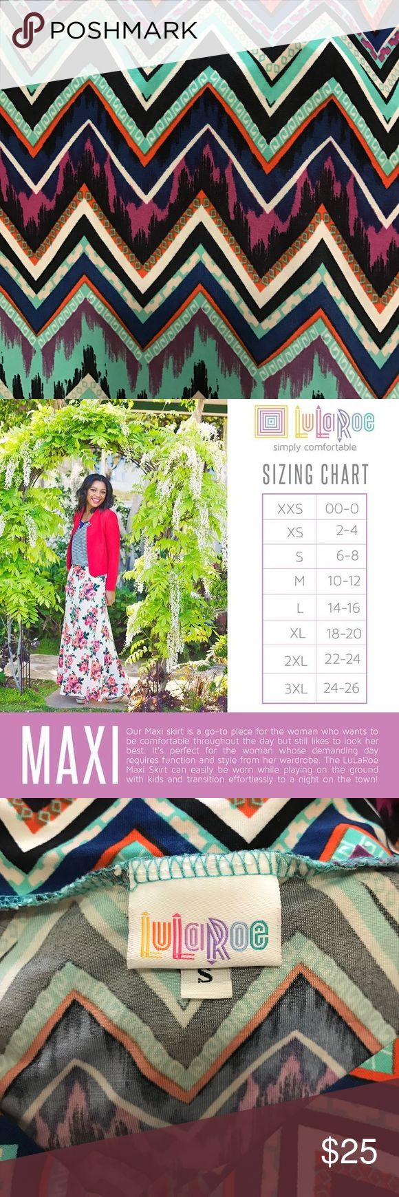 LULAROE SMALL MAXI CHEVRON MAXI SKIRT LULAROE SMALL MAXI CHEVRON MAXI SKIRT LuLaRoe Skirts Maxi