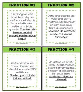 Cartes à tâches sur les fractions