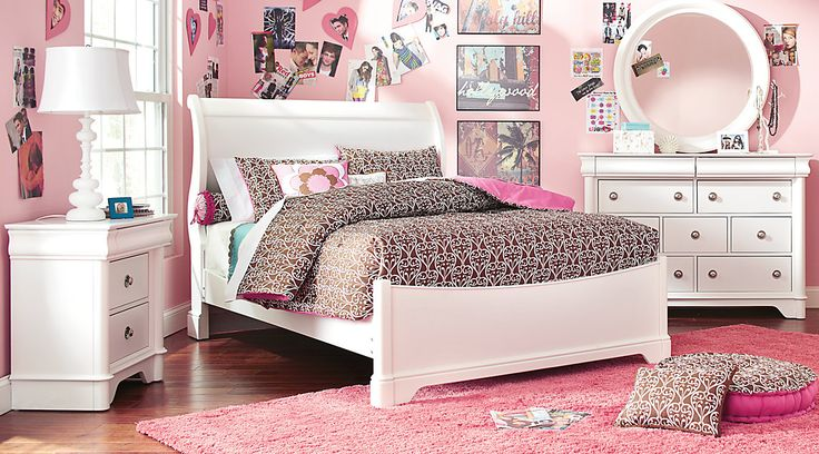 Affordable Sleigh Twin Bedroom Sets   Girls Room Furniture