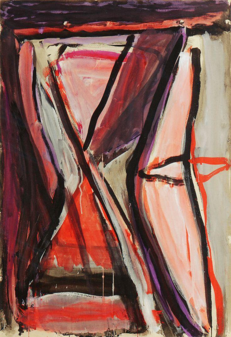 Bram van Velde, sans titre, Grimaud, 1978, lavis d'encre de Chine et gouache, 109,5 x 74,5 cm, musée de Valence, Valence, France
